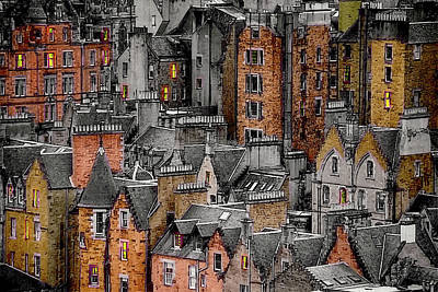 Digital Art - Medieval Edinburgh by John Haldane