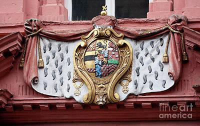 Photograph - Medieval Emblem In Heidelberg, Germany by Tatiana Travelways