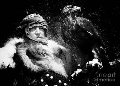 Renaissance Fairs Photograph - Medieval Fair Barbarian And Golden Eagle by Bob Christopher