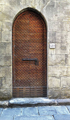 Photograph - Medieval Florence Door by Dave Mills
