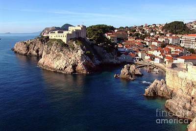 Medieval Fortresses Lovrijenac And Bokar Dubrovnik Art Print