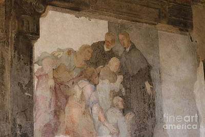 Photograph - Medieval Fresco by Patricia Hofmeester