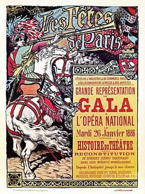 Belle Epoque Digital Art - Medieval Gala Opera Paris 1886 by A