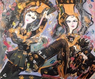 Painting - Medieval Gemini  by Judith Desrosiers