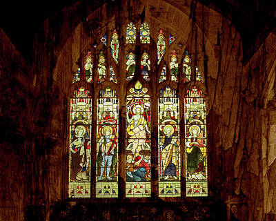 Photograph - Medieval Gothic Stained Glass Window by Jacek Wojnarowski