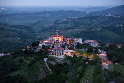 Italy Photograph - Medieval Hilltop Village Of Smartno Brda Slovenia At Dawn In The by Reimar Gaertner