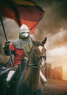 Digital Art - Medieval Knight 2 by Carlos Caetano