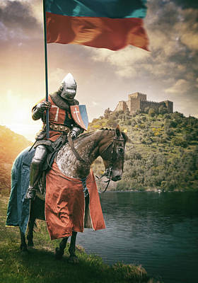 Digital Art - Medieval Knight 3 by Carlos Caetano