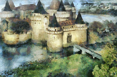 Painting - Medieval Knight's Castle by Sergey Lukashin