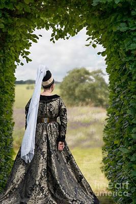 Medieval Lady Print by Amanda Elwell
