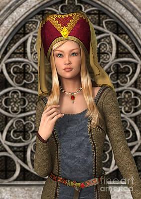 Aristocrat Digital Art - Medieval Lady by Design Windmill