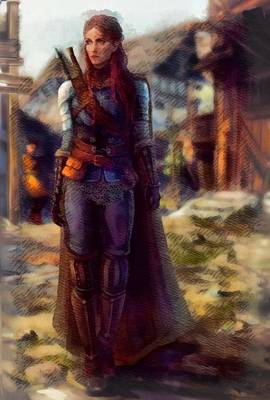 Digital Art - Medieval Lady Of Armor by Mario Carini