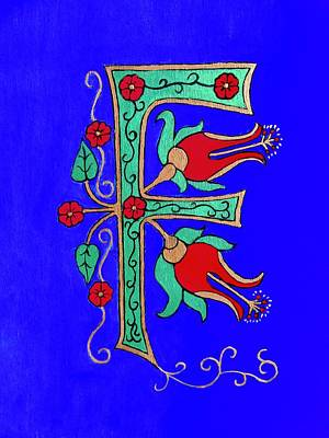 Painting - Medieval Letter F by Stephanie Moore