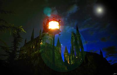 Hogwarts Digital Art - Medieval Night by David Lee Thompson