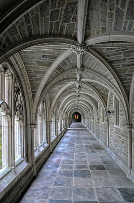 Photograph - Medieval Passgeway At Princeton University by Dave Mills