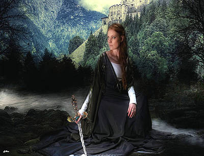 Knights Castle Mixed Media - Medieval Princess by G Berry