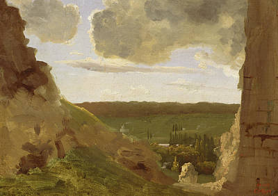 Medieval Painting - Medieval Ruins by Jean Baptiste Camille Corot