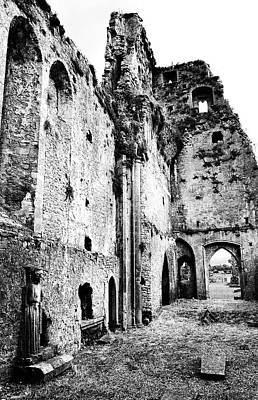 Photograph - Medieval Ruins Of Athassel Priory County Tipperary Ireland Black And White by Shawn O'Brien