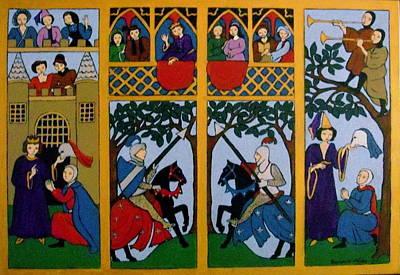 Medieval Scene Art Print by Stephanie Moore