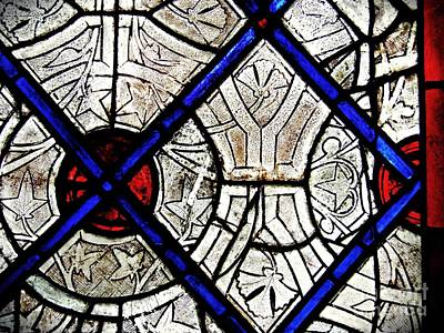 Photograph - Medieval Stained Glass Abstract 2 by Sarah Loft