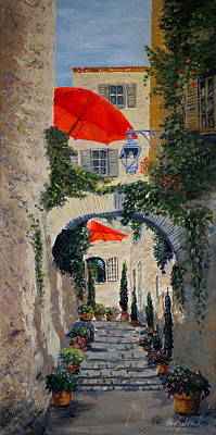 Painting - Medieval Steps At St Paul De Vence by Marilyn Zalatan
