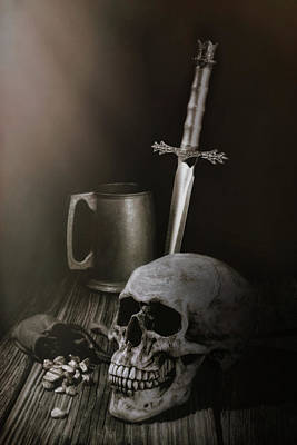 Medieval Still Life Art Print by Tom Mc Nemar