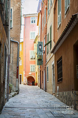 Paint Photograph - Medieval Street In Villefranche-sur-mer by Elena Elisseeva