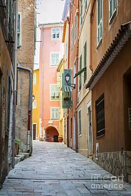 Medieval Street In Villefranche-sur-mer Art Print by Elena Elisseeva