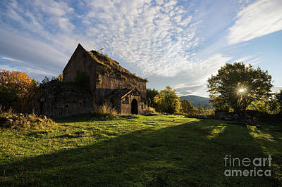 Photograph - Medieval Tezharuyk Monastery During Amazing Sunrise, Armenia by Gurgen Bakhshetsyan