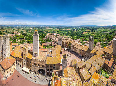 Photograph - Medieval Towers Of San Gimignano by JR Photography