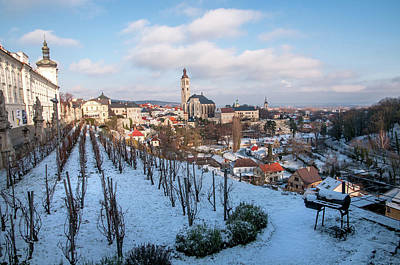 Photograph - Medieval Town Of Kutna Hora. Winter Vineyards by Jenny Rainbow