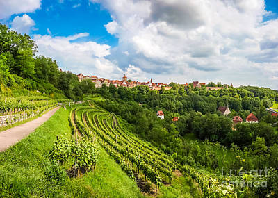 Purely Purple - Medieval town of Rothenburg ob der Tauber, Germany by JR Photography