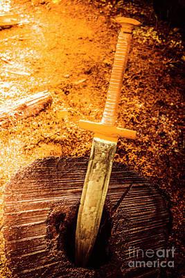 Medieval Training Sword Art Print