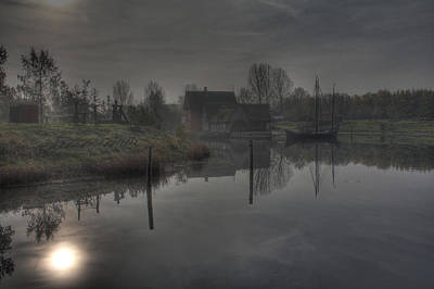 House Photograph - Medieval Village - Water by Jan Boesen