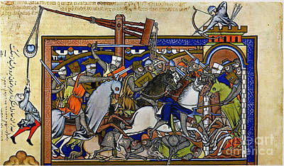 Photograph - Medieval Warfare, C1250 by Granger