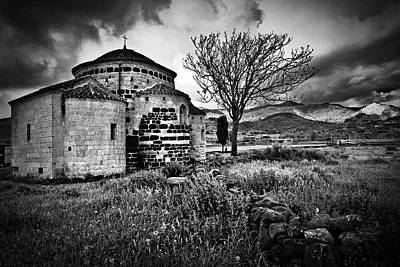 Photograph - Medievel Church Santa Sabina In Sardinia Italy, Bw by Dirk Ercken