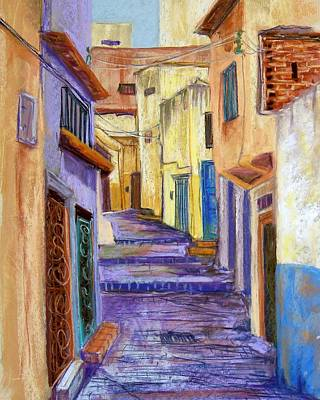 Medina In Tangier Art Print by Candy Mayer
