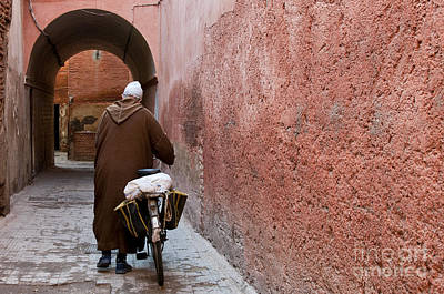Marrakesh Photograph - Medina Man by Marion Galt