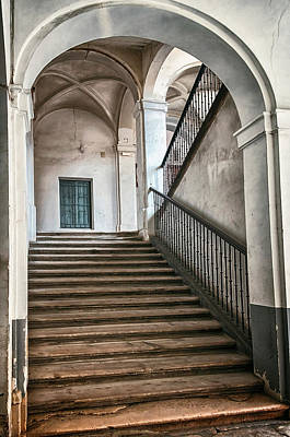 Pineapple - Medinaceli Palace Stairway Aranjuez Spain by Joan Carroll