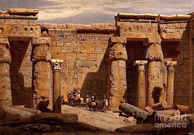 Medinet Habu Temple, Egypt, 1878 Art Print by Wellcome Images