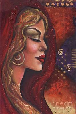 Art Print featuring the mixed media Meditate by Alga Washington