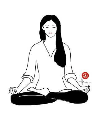 Drawing - Meditate by Alma Ayon