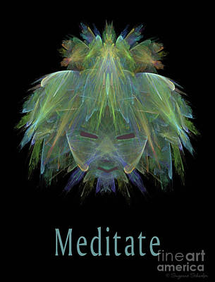 Digital Art - Meditate  by Suzanne Schaefer