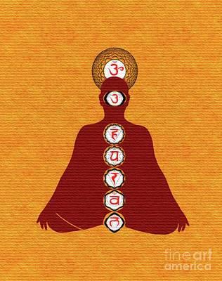 Chakra Painting - Meditate On Chakras by Pierre Blanchard