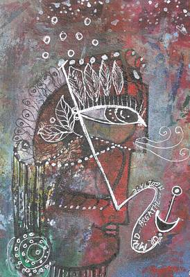 Mixed Media - Meditate To Anchor Your Mind by Prerna Poojara