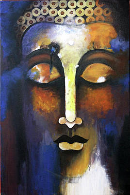 Shweta Singh Painting - Meditating Buddha by Shweta Singh