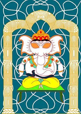 Digital Art - Dhyana Ganapati by Pratyasha Nithin