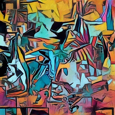 Digital Art - Meditating On And Contemplating Abstract Art Creates A Space Of Pure Perception Where Hope And Fear  by Mike Butler