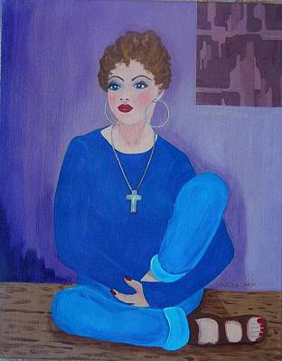 Painting - Meditating by Patricia Voelz