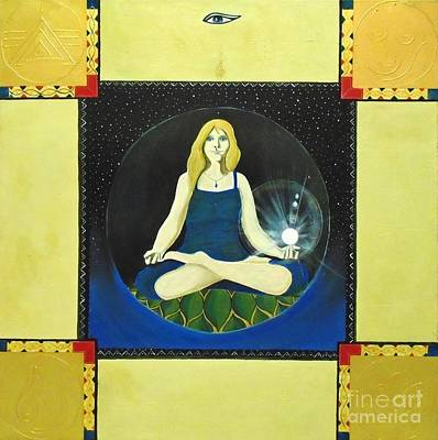 Painting - Meditating Woman by John Lyes